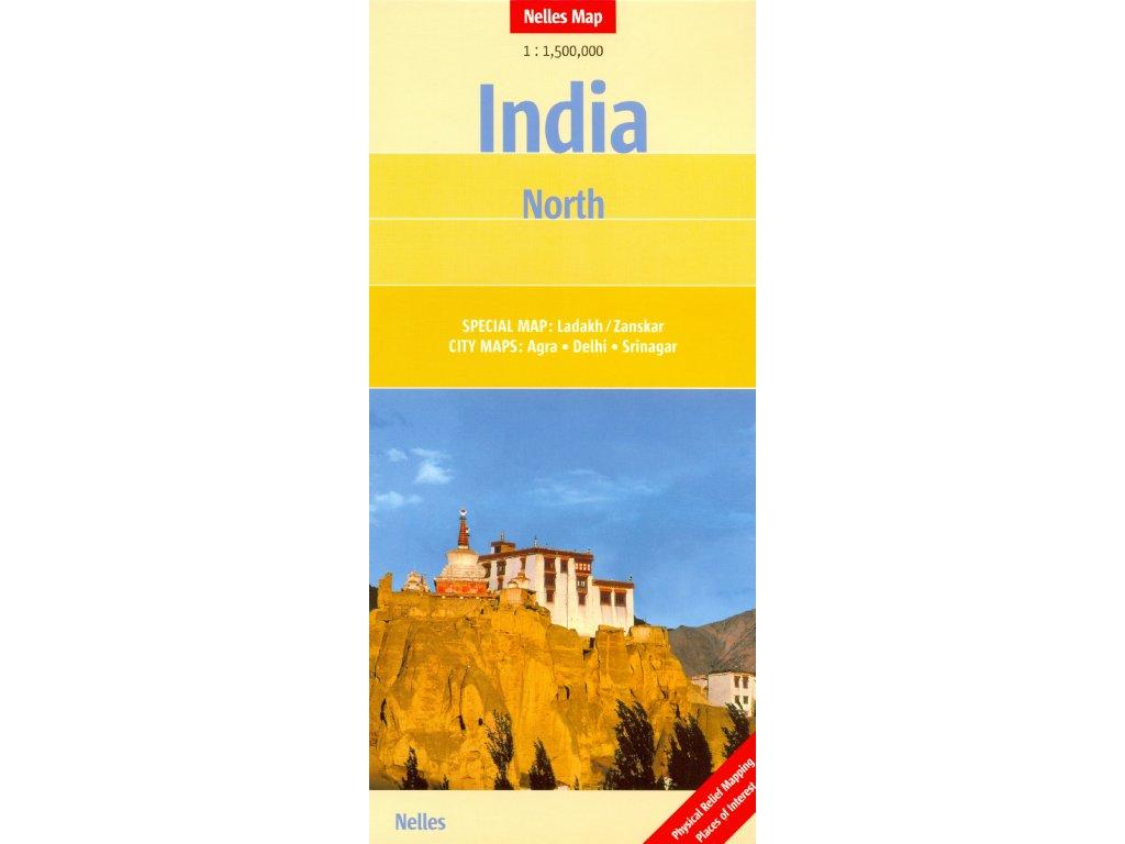 Indie - sever/mapa 1:1,5M nelles