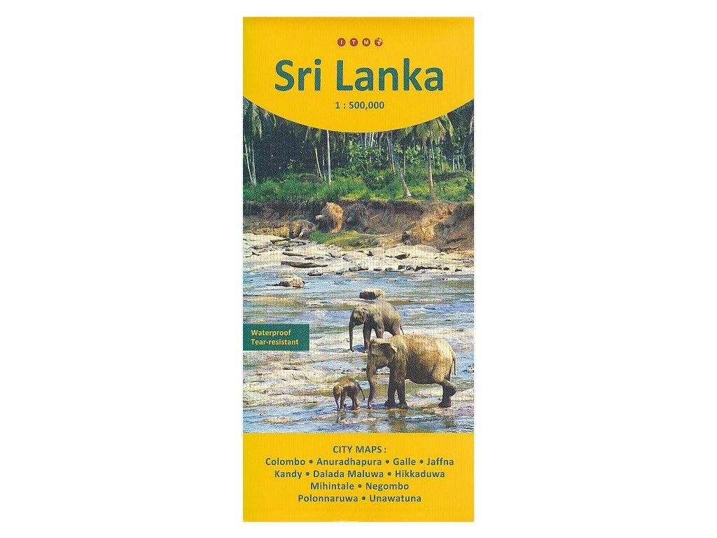 Srí Lanka,,mapa 1:500tis. ITM CZ