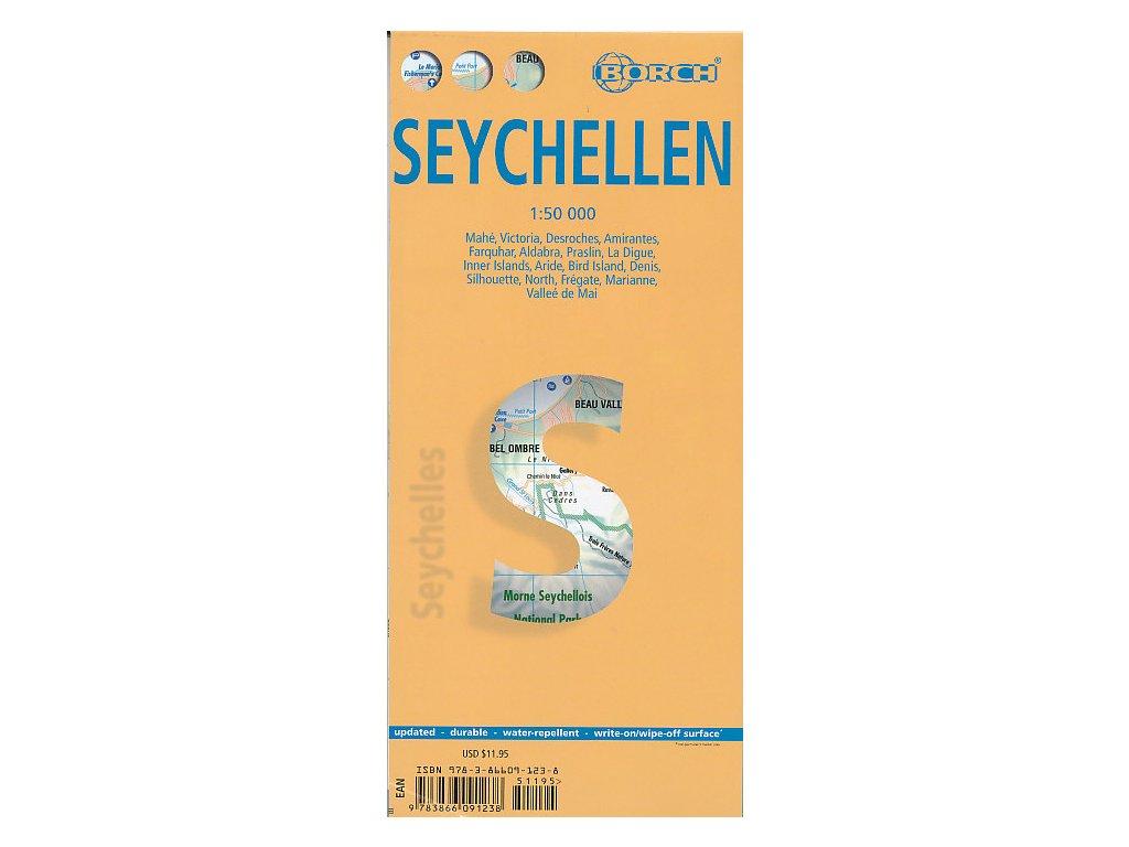 Seychely,,mapa 1:50t. BORCH