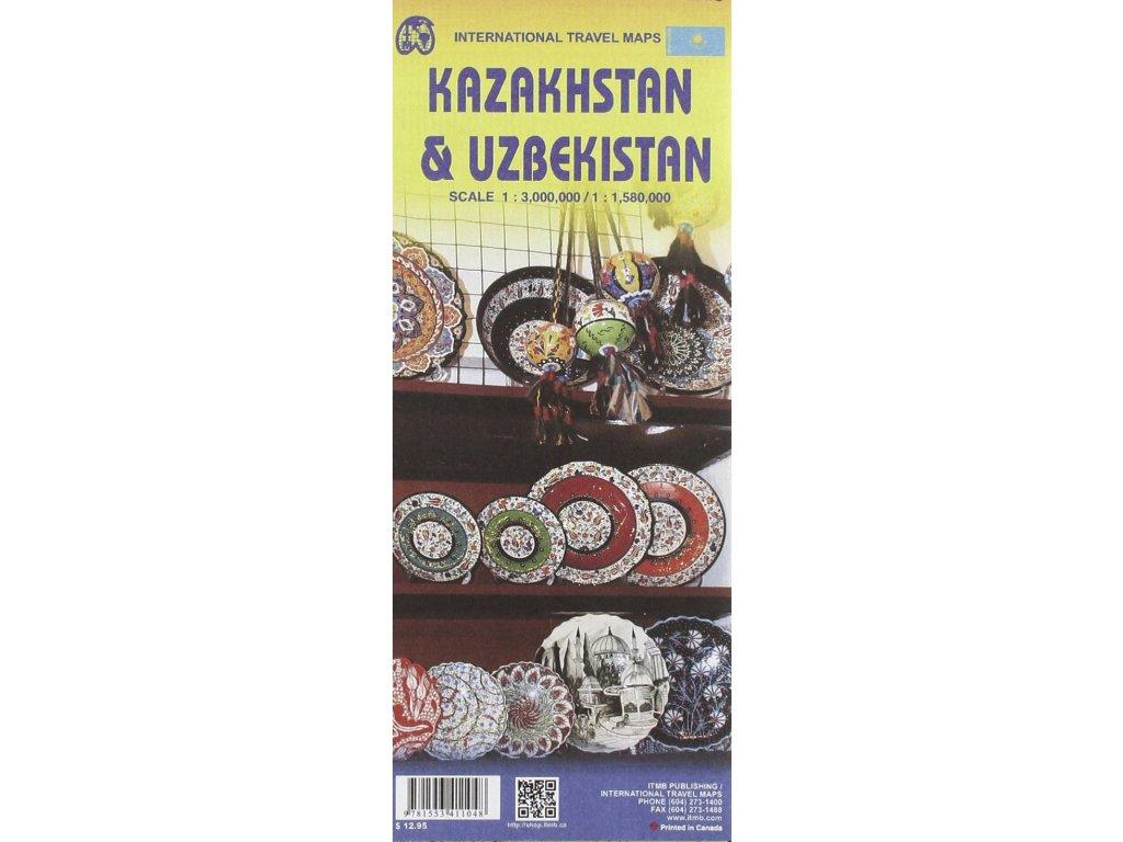 Uzbekistan a Kazachstan ,  mapa ITM 1:1.58mil.