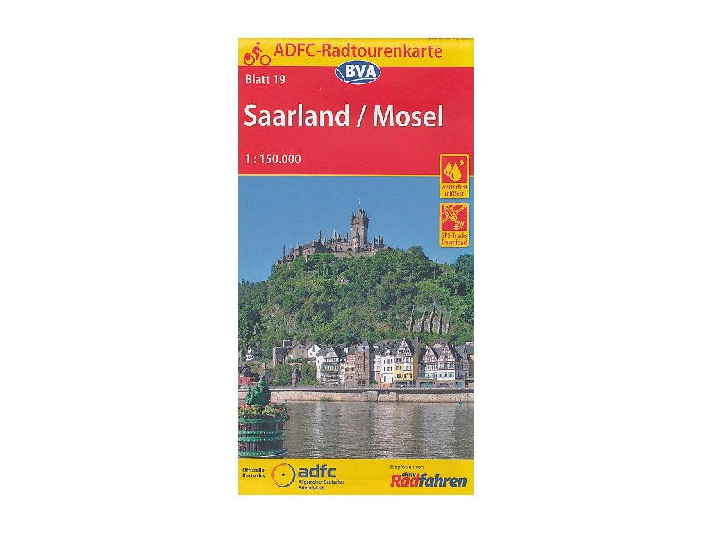 Saarland,Mosel/cyklomapa 1:150t RTK19