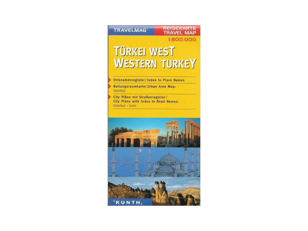 Turecko - západ 1:800t mapa KU