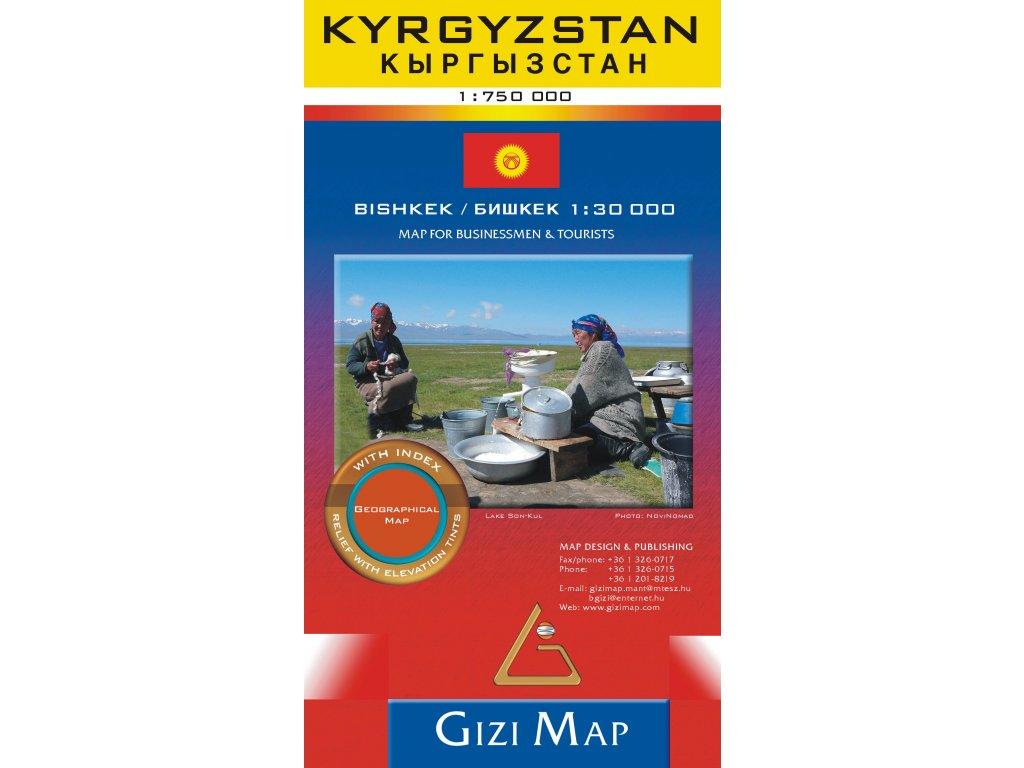 Kyrgyzstán/mapa 1:750t GIZI