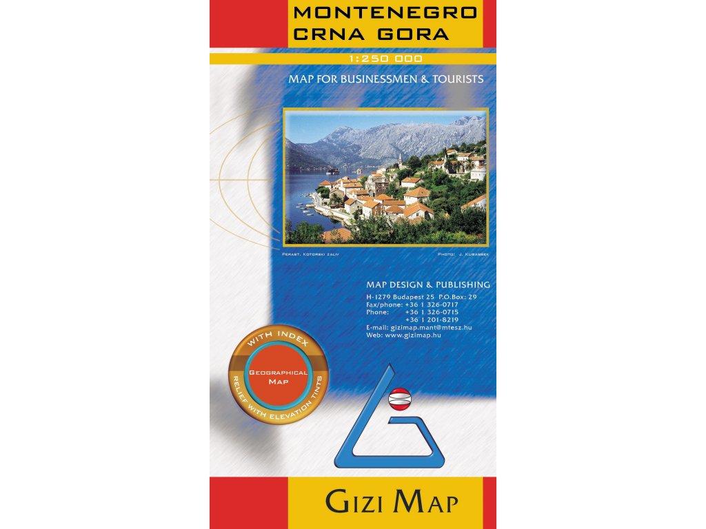 Černá hora/mapa 1:200t GIZI