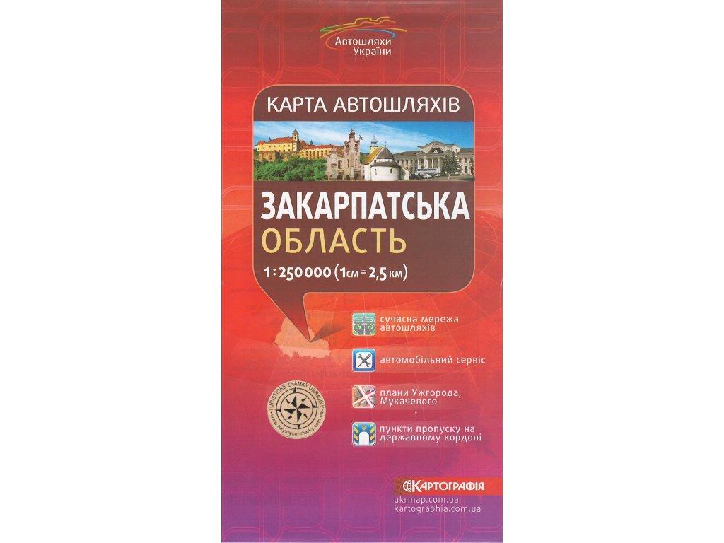 Zak.Ukrajina/automapa 1:250t