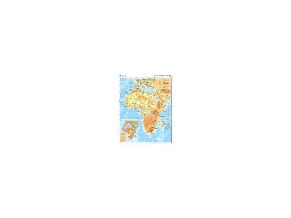 Afrika příruční mapa obec. zem. Kartografie