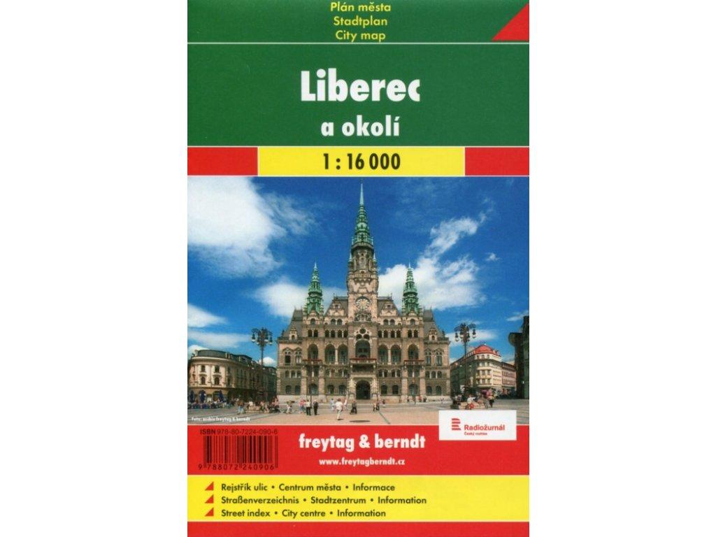 Liberec a okolí/plán,mapa 1:16t FB