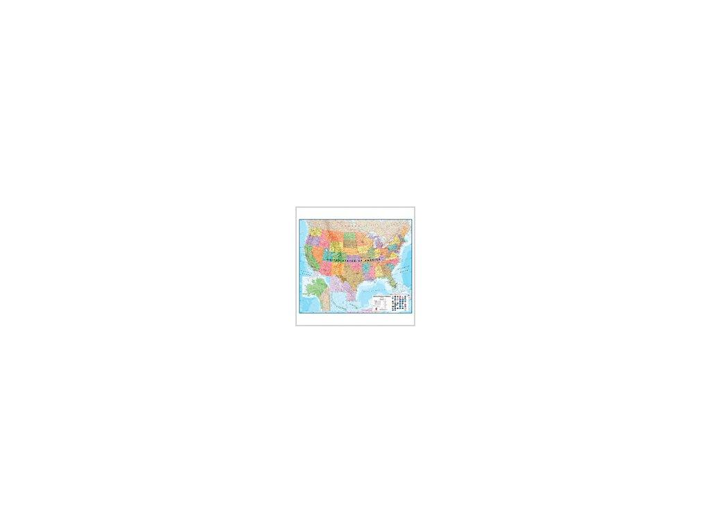 USA / nást. mapa lamino 120x100 ZES
