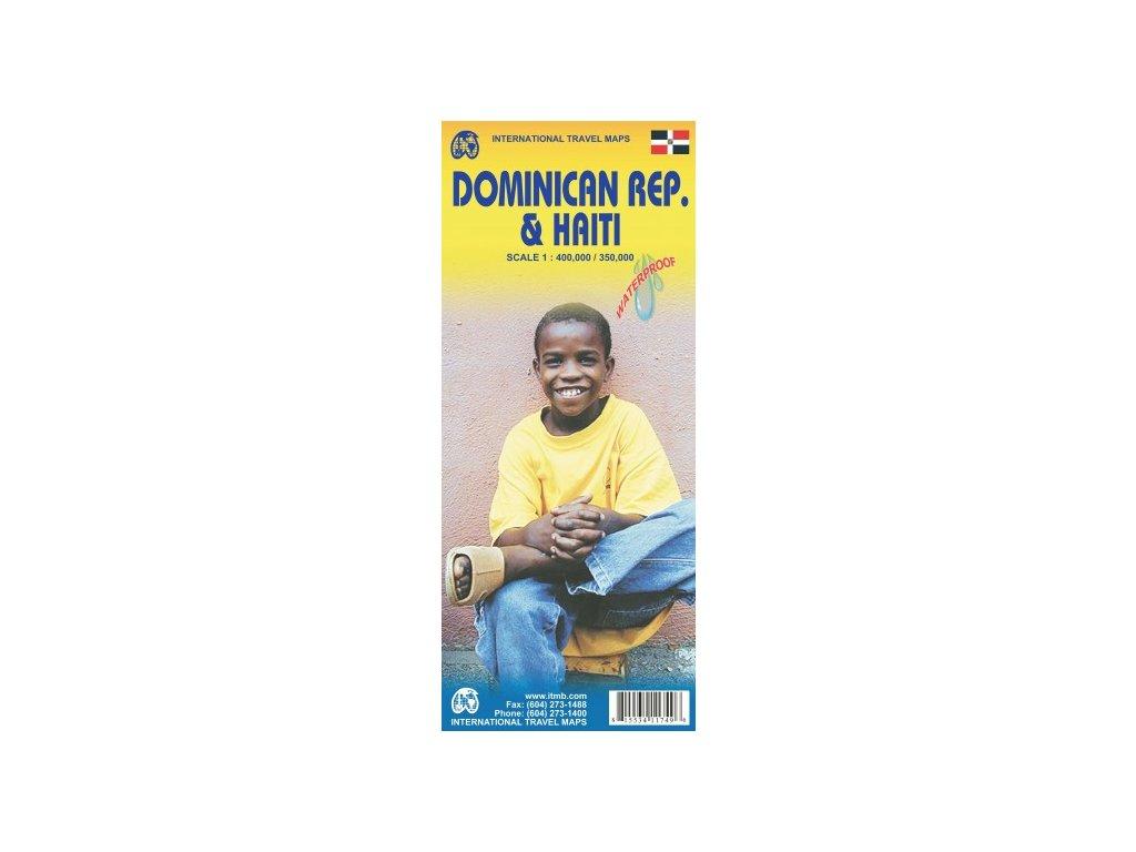 Dominikánská rep.,Haiti/mapa 1:400t ITM
