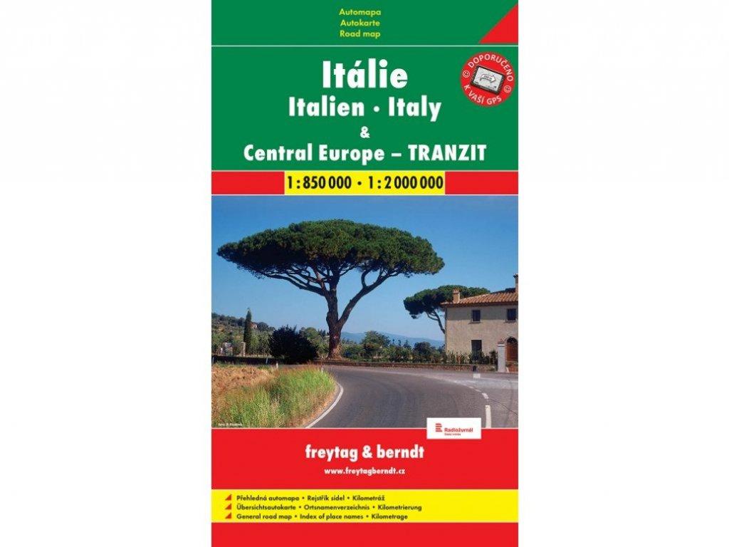 Itálie+stř.Evropa trazit/mapa 1:850t SC
