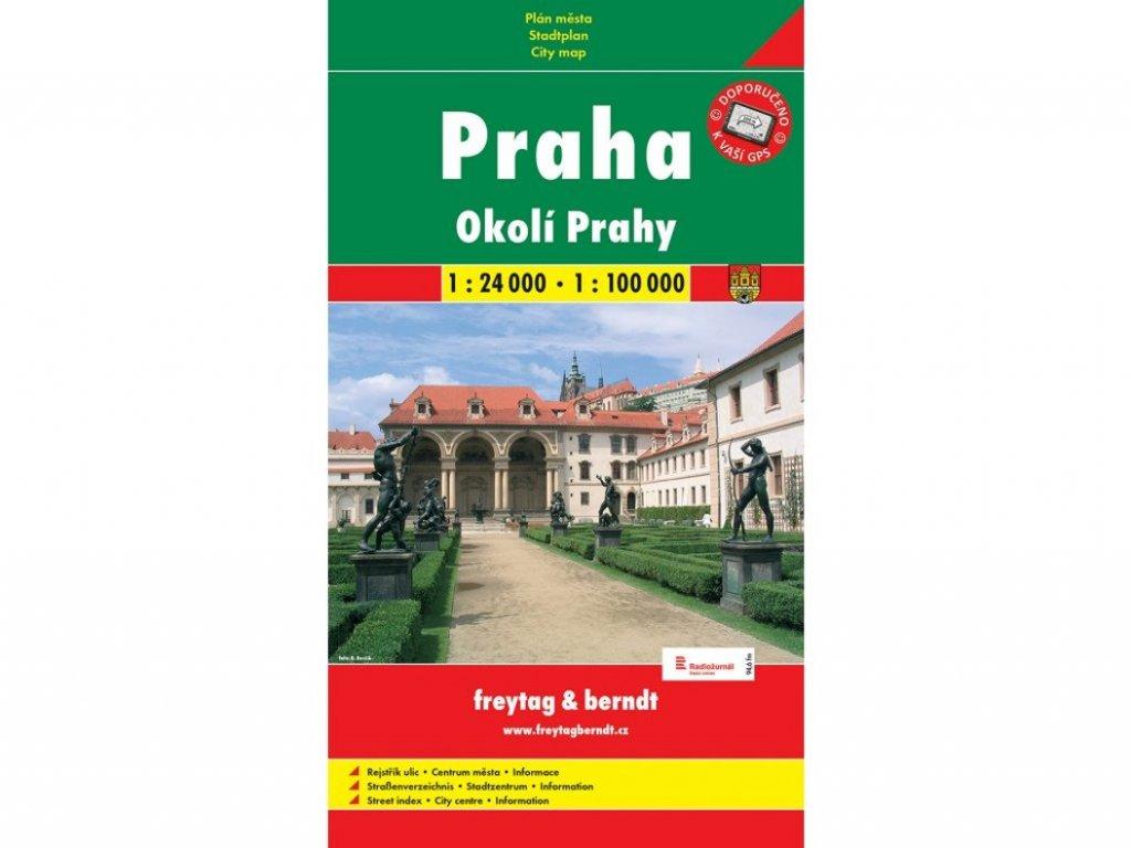 Praha a okolí / plán,mapa 1:24/100T GC