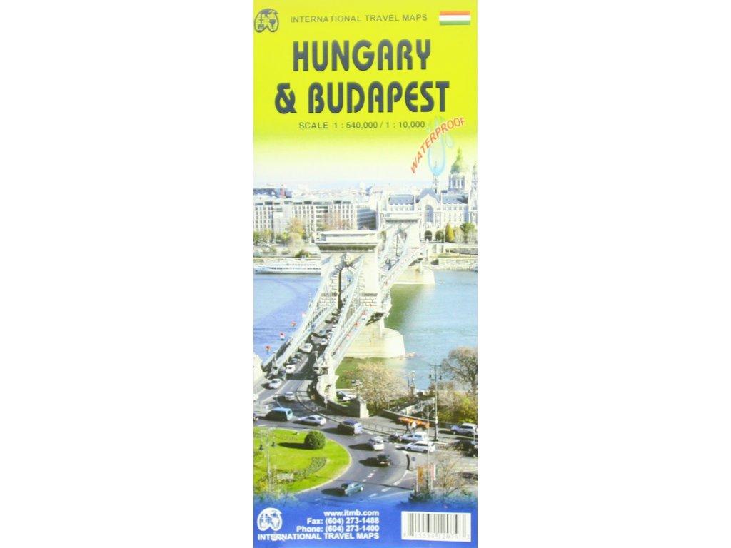 Maďarsko+BudapešŠ/mapa 1:400t ITM