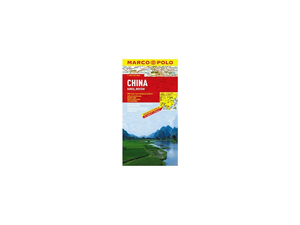 Čína,Korea,Bhutan/mapa 1:4M MD