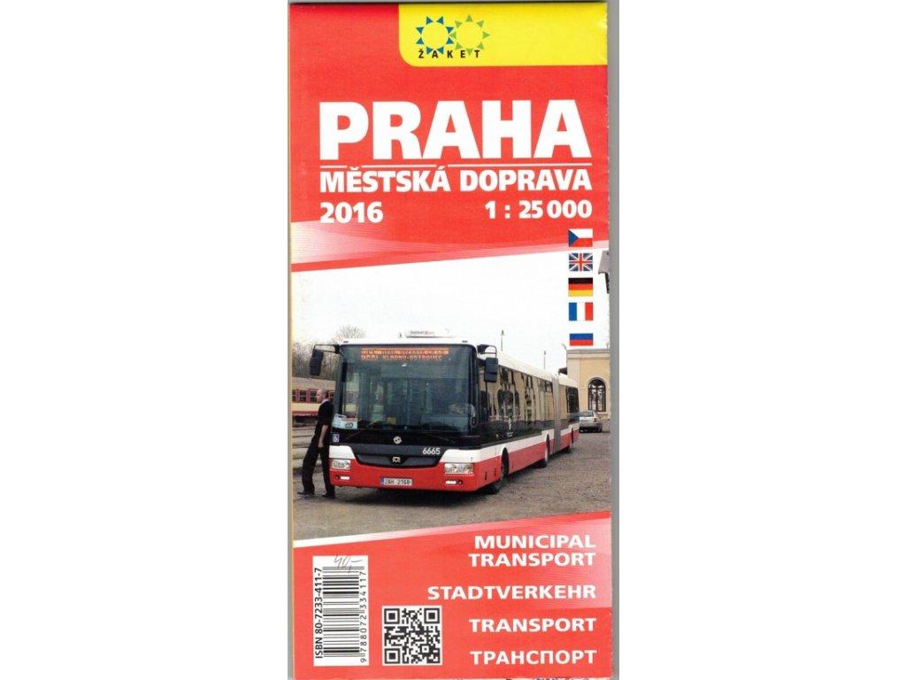 Praha - městská doprava,mapa 1:25tis ŽAKET
