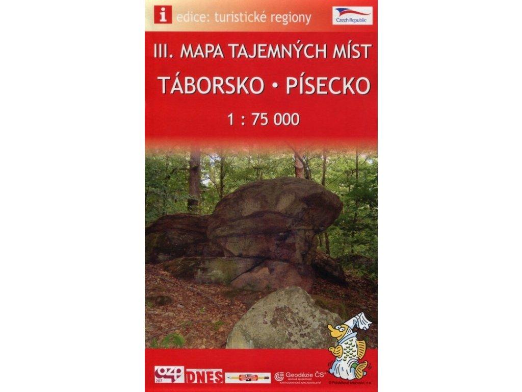 Mapa taj. míst-Táborsko a Písecko 1:75T