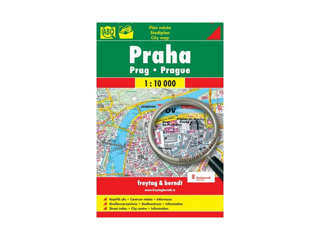 Praha,mapa 1:10tis. FB bez brýlí