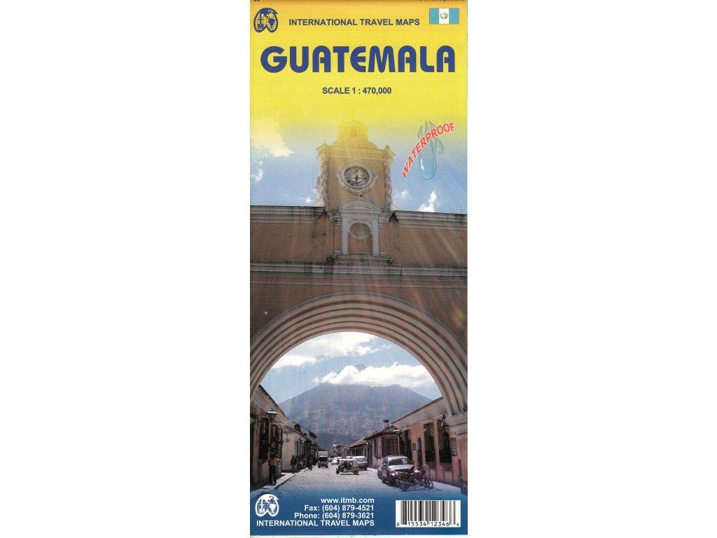 Guatemala / mapa ITM 1:470t vodědolná