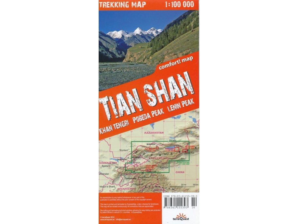 Tianshan(Kyrgyzstan)/trek.mapa 1:100t TQ