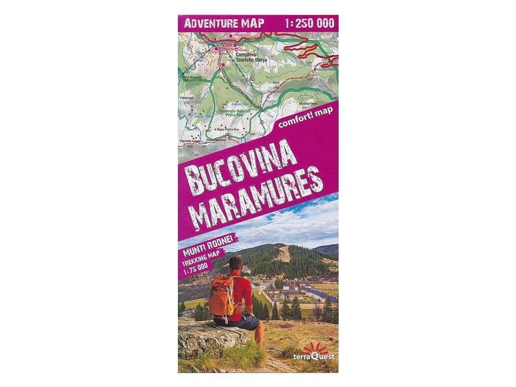 Bucovina, Maramures,mapa 1:250tis. TQ