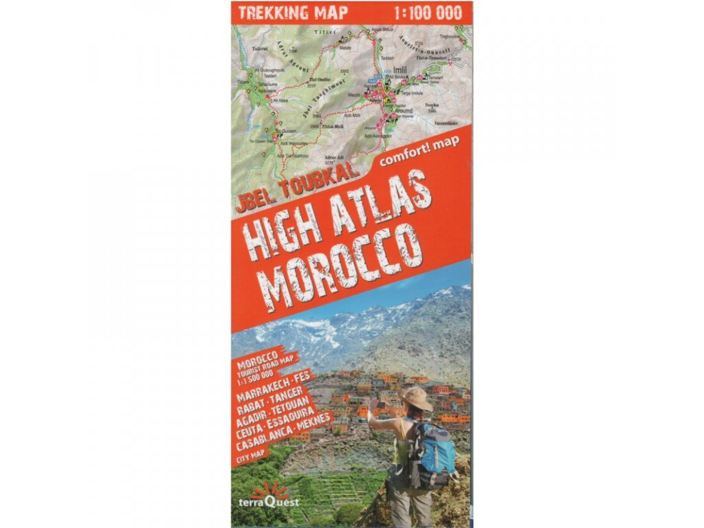 High Atlas(Maroko)/ mapa 1:100t lamino
