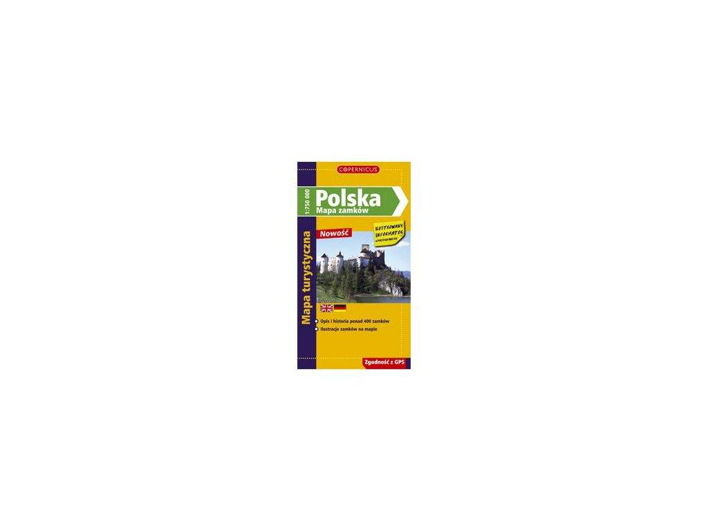 Polsko /mapa hradů a zámků 1:750t COP