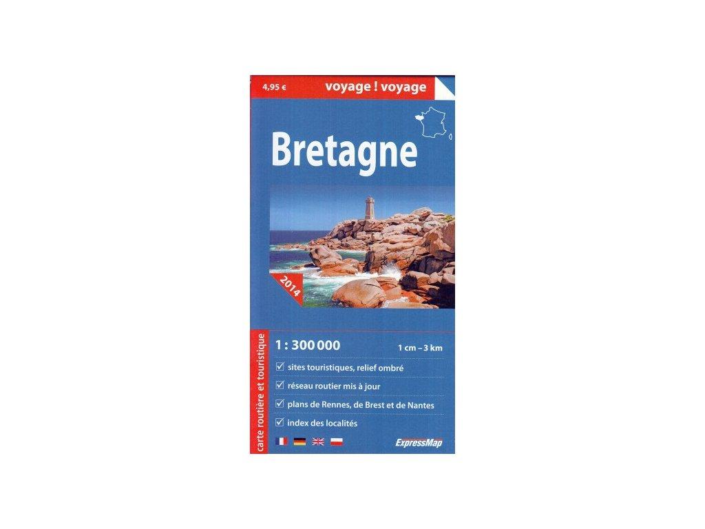 Bretaň / mapa 1:300t ExpressMap