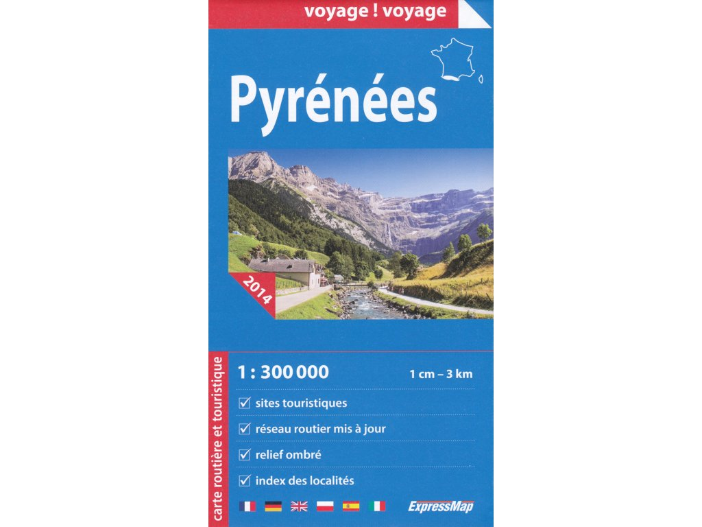 Pyreneje /mapa 1:300t ExpressMap