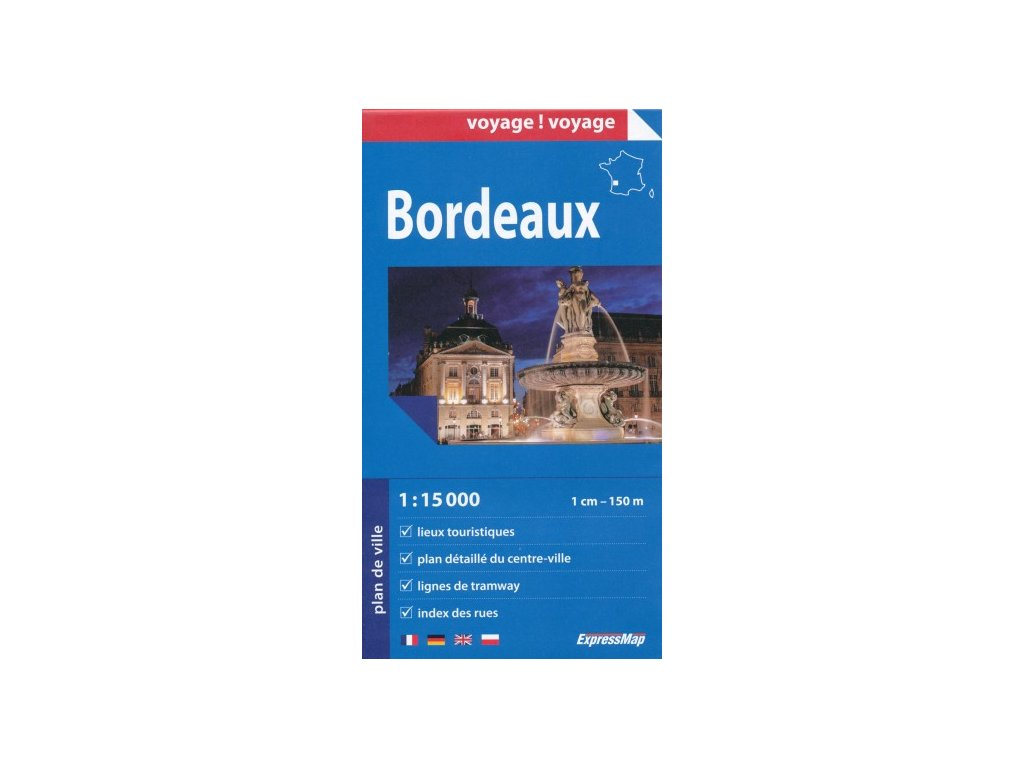 Bordeaux / plán,mapa 1:15t ExpressMap