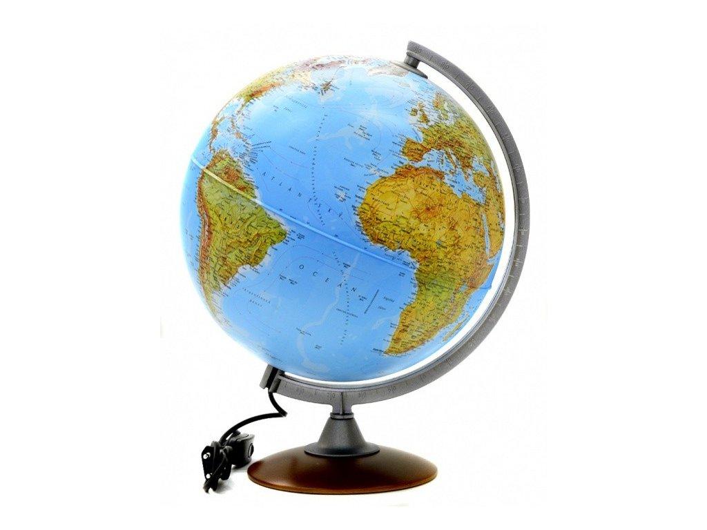 Globus Atlantis fyz.reliéfní 30cm STIEF