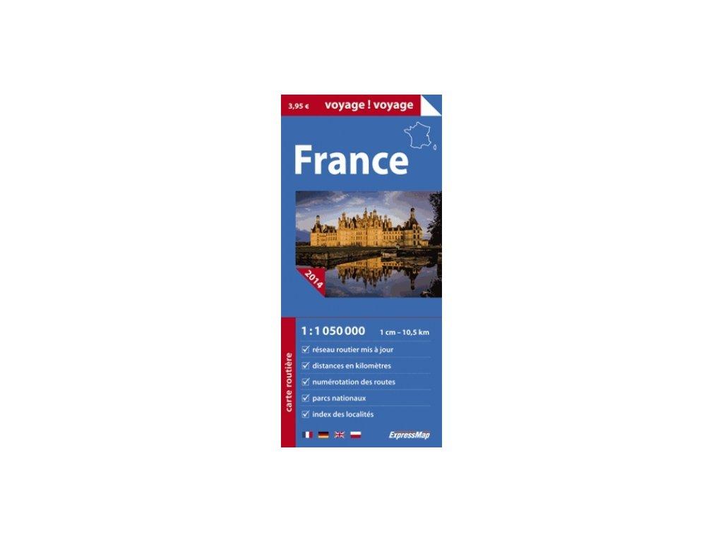 Francie/mapa 1:1M Express