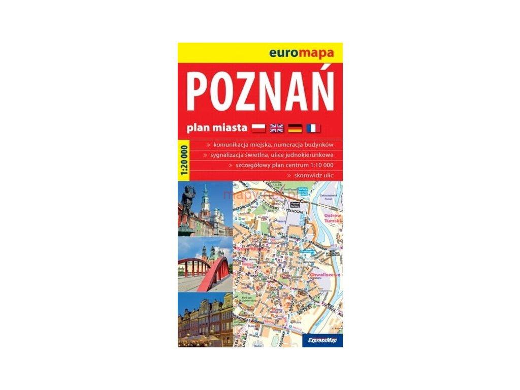Poznaň / plán,mapa 1:20t COpernicus