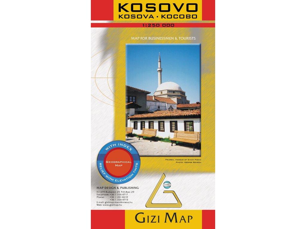 Kosovo / mapa 1:250t GIZI