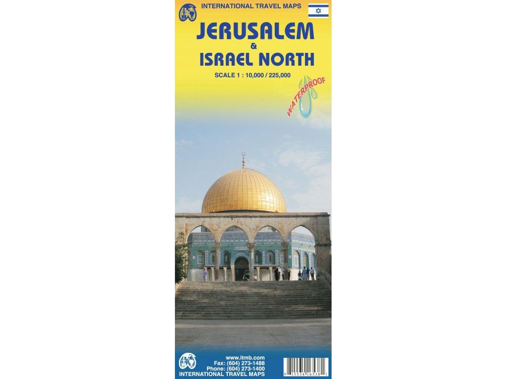 Izrael a Palestina/ mapa ITM 1:225t