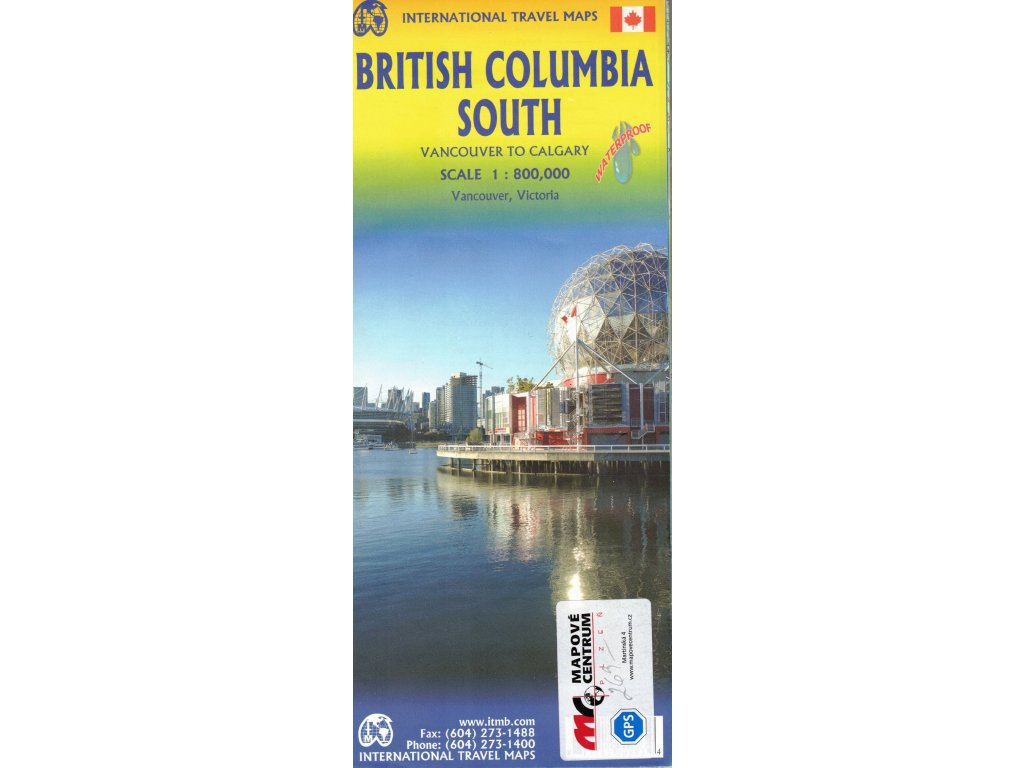 Britská Kolumbie jih 1:800tis. ITM