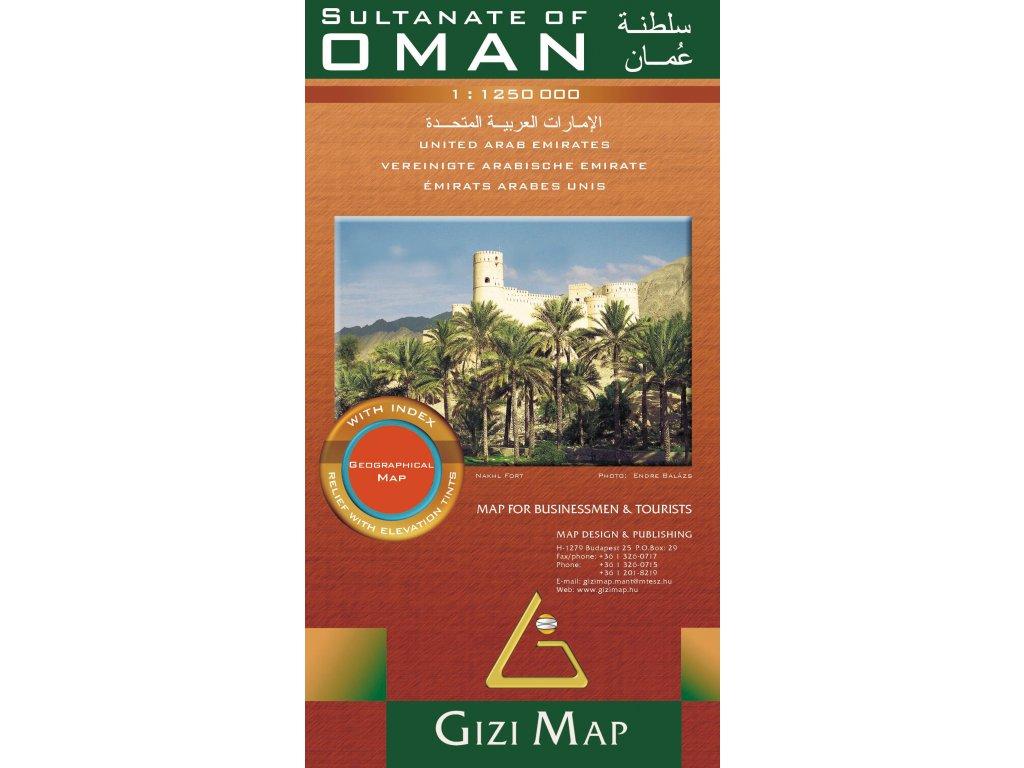 Omán/mapa 1:1,25M GIZI geograf.