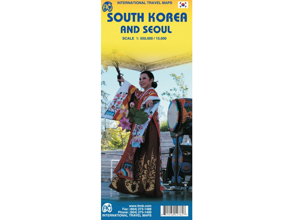 Korea South, Seoul l-mapa 1:550T,1:15
