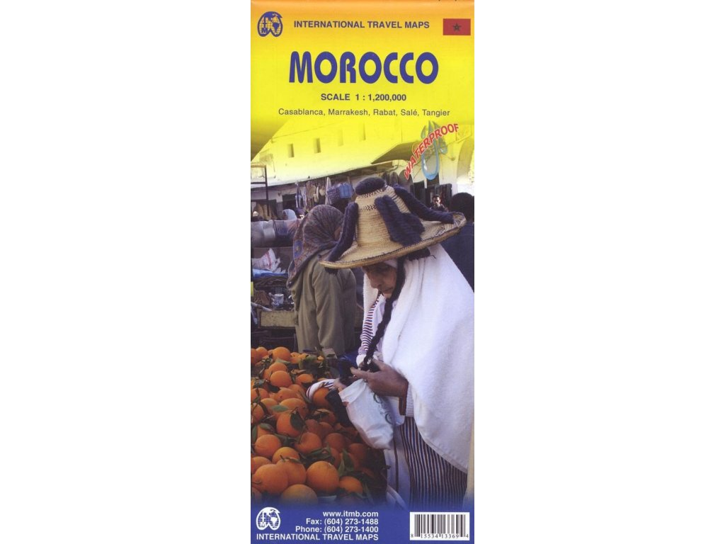 Maroko,  mapa  1:1.2mil ITM