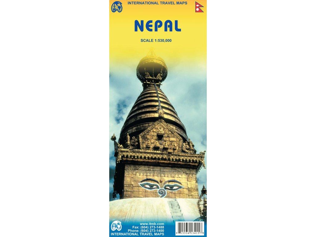 Nepál /mapa 1:530tis. ITM
