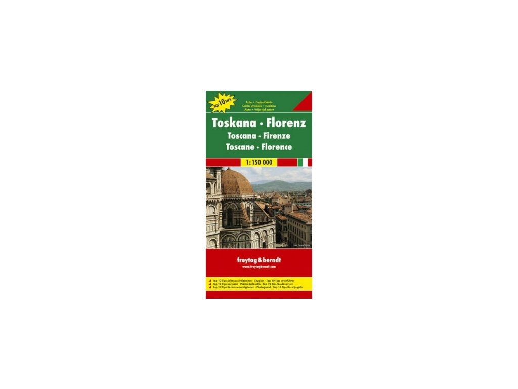 Toskánsko, Florencie ,mapa 1:150t  FB
