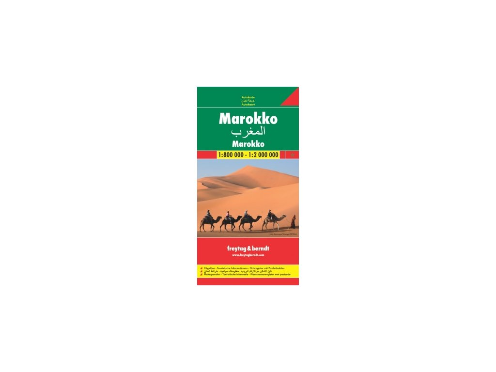 Maroko,mapa 1:800tis - 2mil. FB