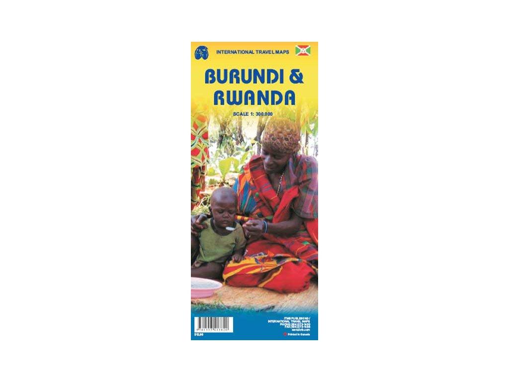 Rwanda Burundi,  mapa  1:300tis.