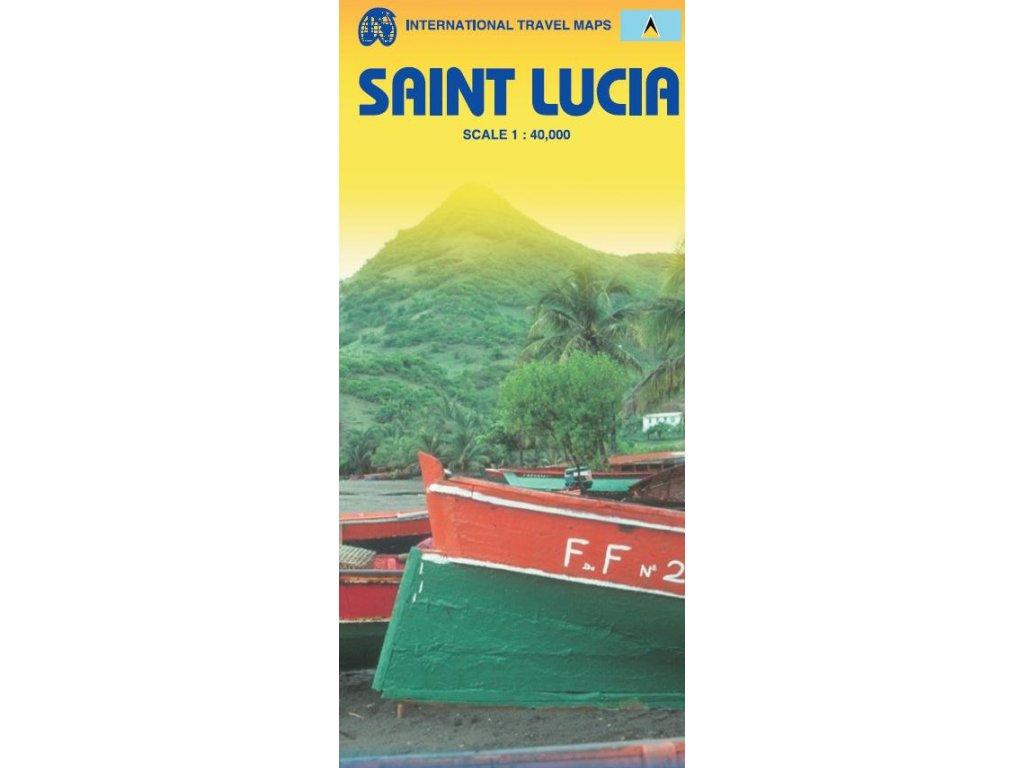 Saint Lucia,  mapa  1:14tis. ITM