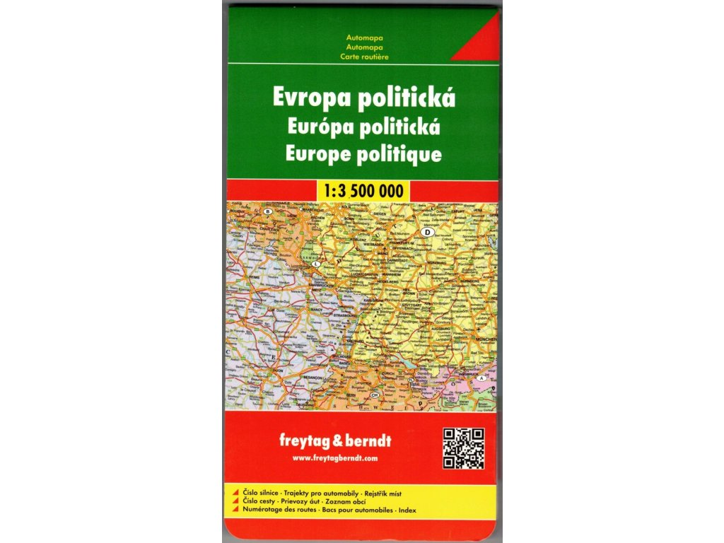 Evropa pol FB rozkládací,mapa 1:3.5mil.