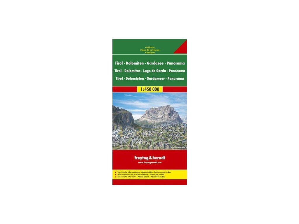 Tyrolsko,Dolomity/mapa+panorama FB 1:450