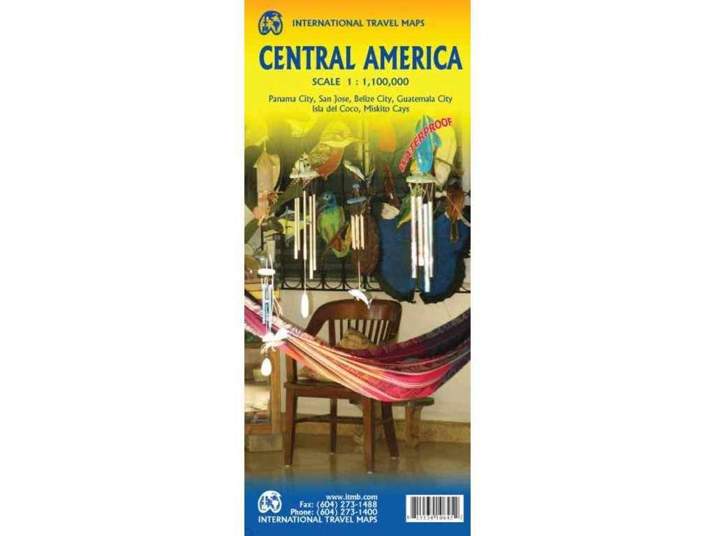 Střední Amerika (central america)/mapa 1:1Mil ITM