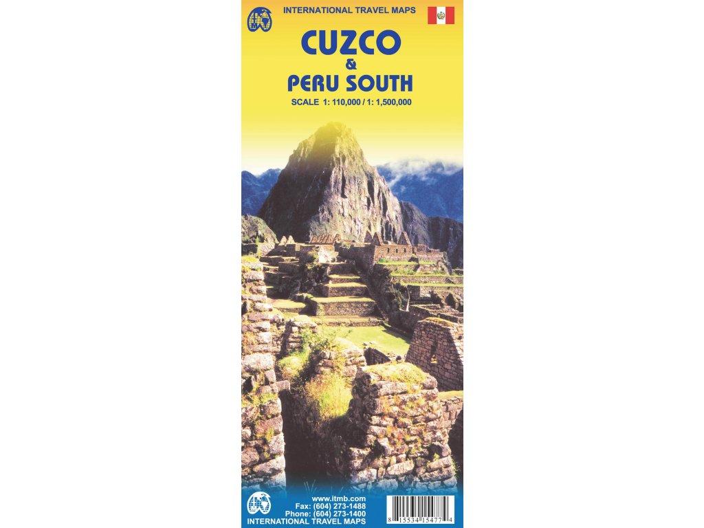Cuzco a Peru jih / mapa ITM 1:110t/1,5Mil