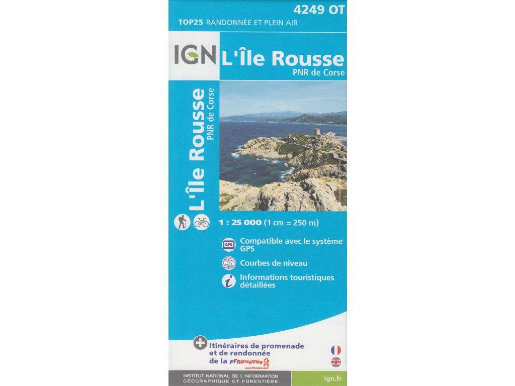 IGN 4249OT LIle Rousse, mapa 1:25t (Korsika)