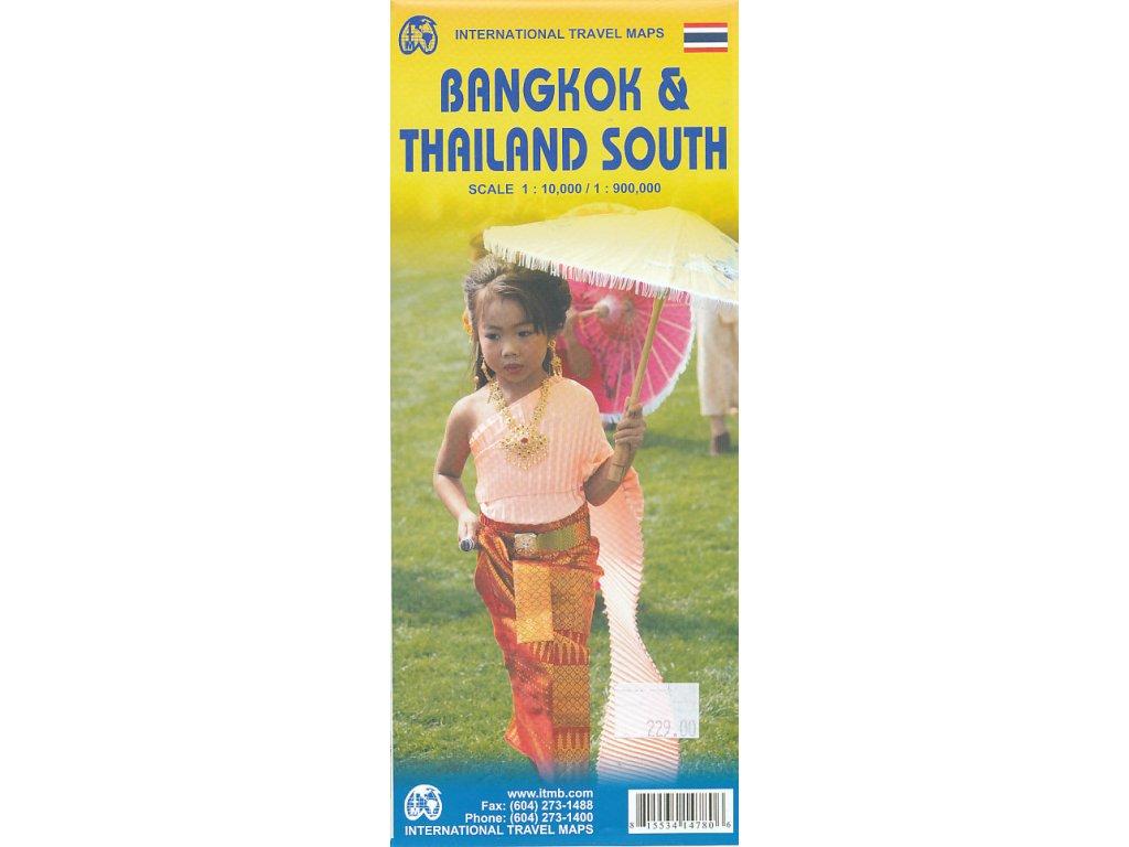Thajsko jih+Bangkok/mapa ITM