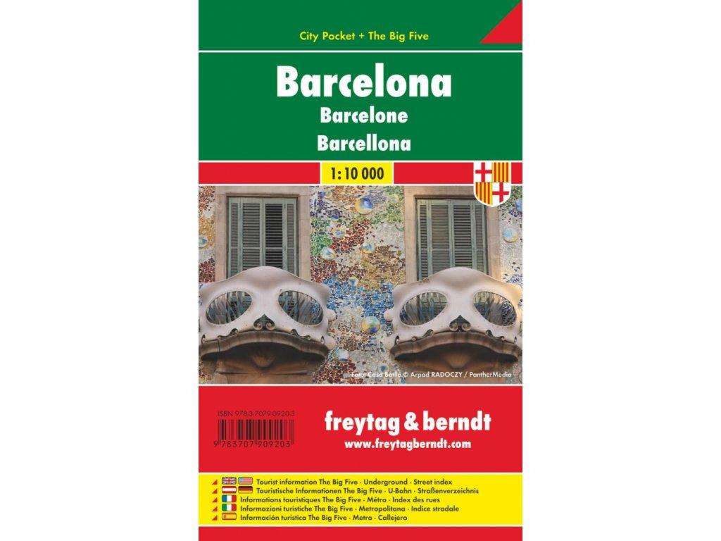 Barcelona plán, mapa kapesní lamino FB  1:10T