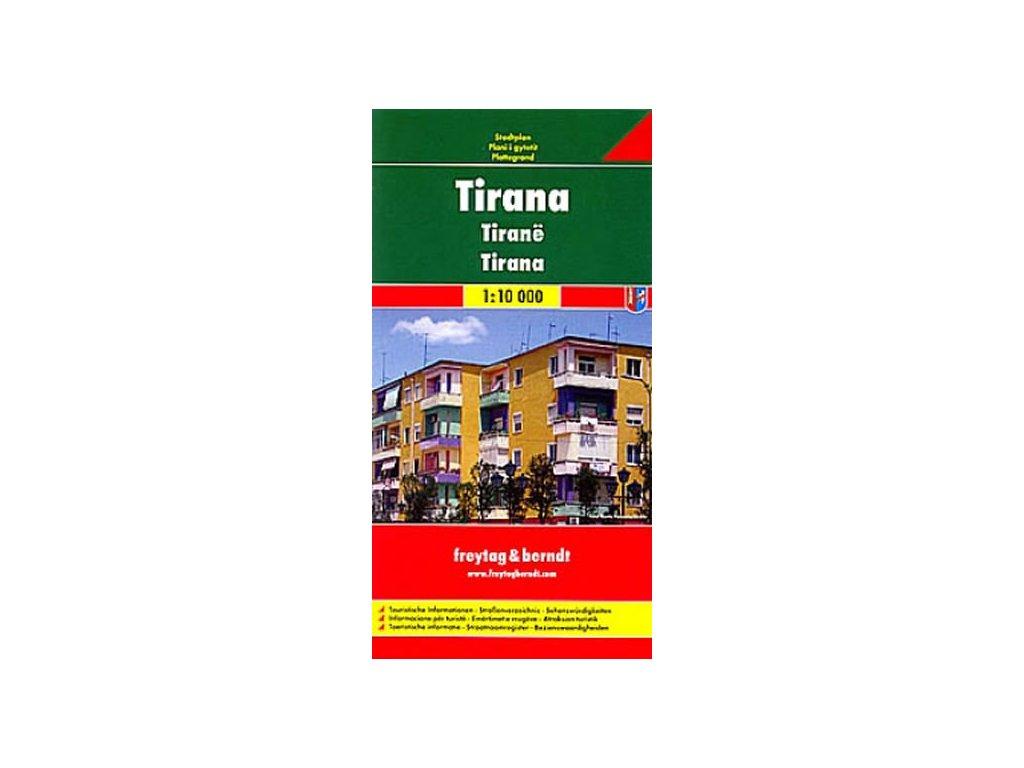 Tirana / plán, mapa města 1:10t FB